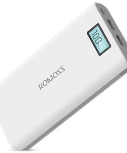 罗马仕(ROMOSS)sense6Plus 移动电源 20000毫安 数显(液晶显示)苹果 安卓手机 平板通用 充电宝