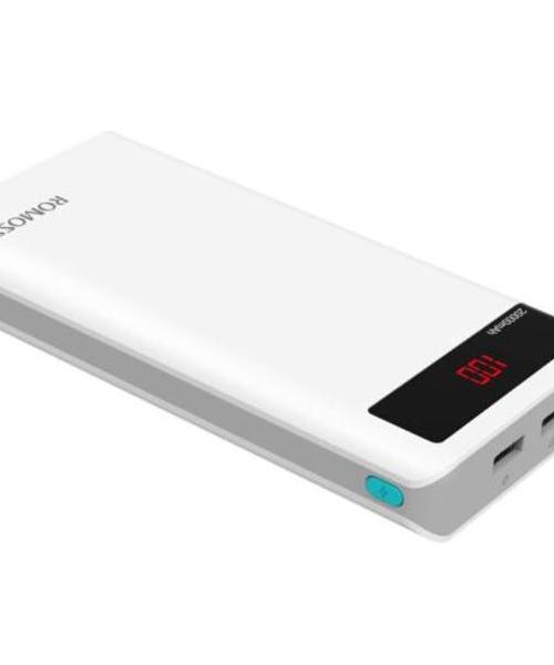 罗马仕(ROMOSS)sense6P LED数显屏 20000毫安 移动电源 充电宝 平板 安卓 苹果手机通用