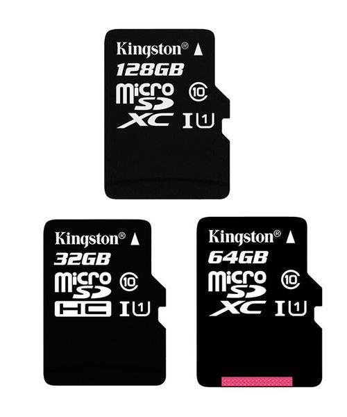 金士顿(Kingston)32GB 64G 128G 80MB/s TF(Micro SD)Class10 UHS-I高速存储卡