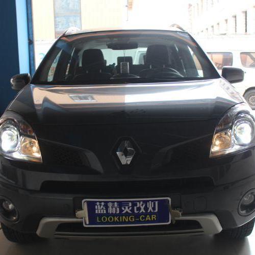 上海蓝精灵车灯改装雷诺科雷傲改装米石LED双光透镜