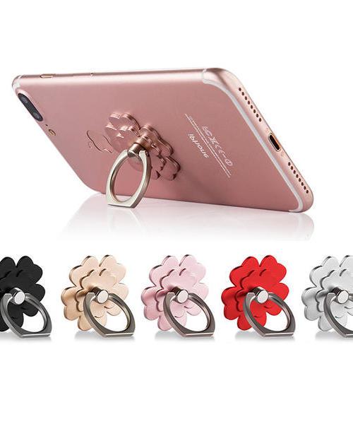 适用 苹果iphoneX 8 6s 7plus创意手机指环扣支架 小米 oppo 华为 三星 vivo 通用 幸运草环扣支架