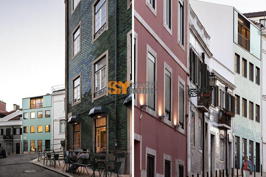 仅41平米的五层住宅,位于里斯本的城市小屋