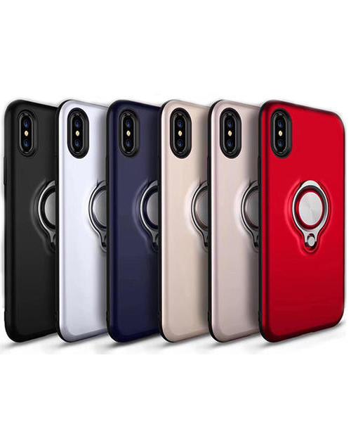 适用 OPPO R11手机壳 R11Plus A59 A57 A77 A39 TPU+PC二合一 可旋转五金指环支架 保护壳