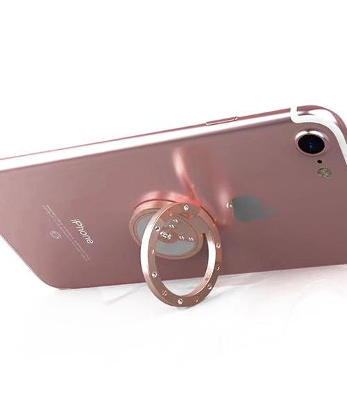 适用 苹果oppo r11手机指环支架 苹果X 6S 三星S8 小米 华为 vivo r9 平板通用 钻石磁吸指环扣支架 可旋转