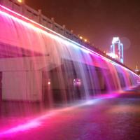 高架桥绚丽灯光