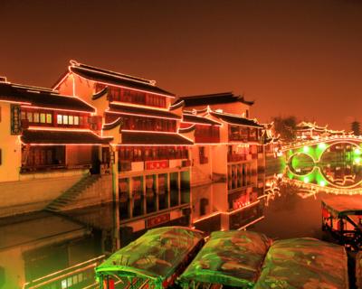 七宝老街夜景