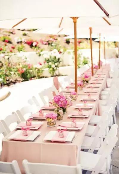 婚礼策划,一场少女心爆棚的粉色系主题婚纱!