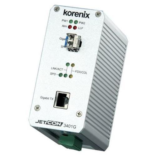JetCon 3401G 工业千兆以太网媒介转换器