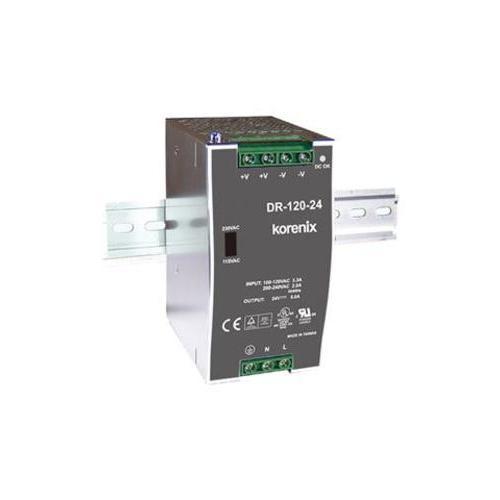 DR-120-24 120W 24 VDC 导轨电源模块, 88-132VAC/176-264VAC