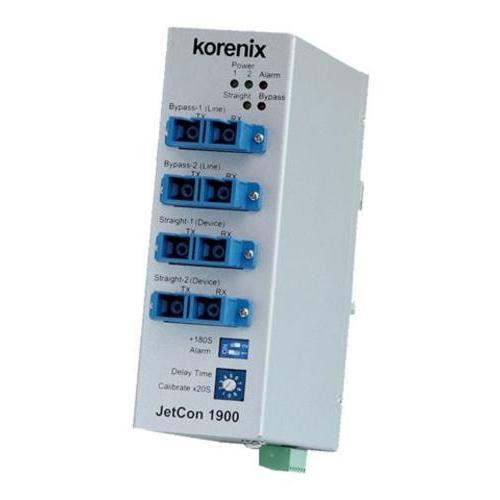 JetCon 1900 工业光纤带旁路交换机