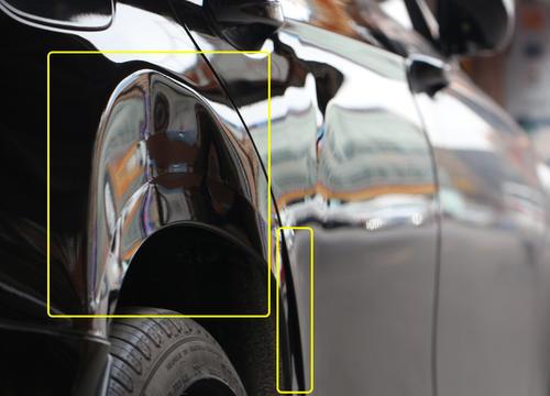 行业内巨献-----奔驰后叶子板汽车凹陷修复经典