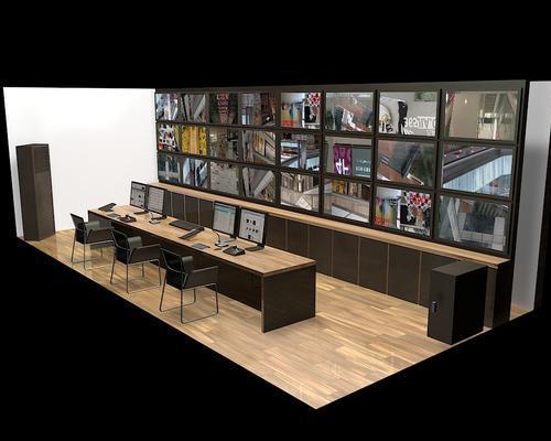 机房效果图设计,电视墙设计