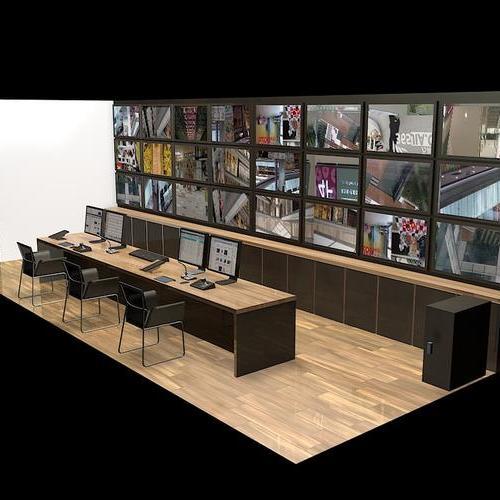 机房效果图设计,电视墙设计岗亭效果图设计