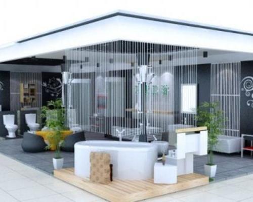 卫浴展厅建材地板门窗门业家具涂料墙纸卫浴专卖店装修设计,五金店设计