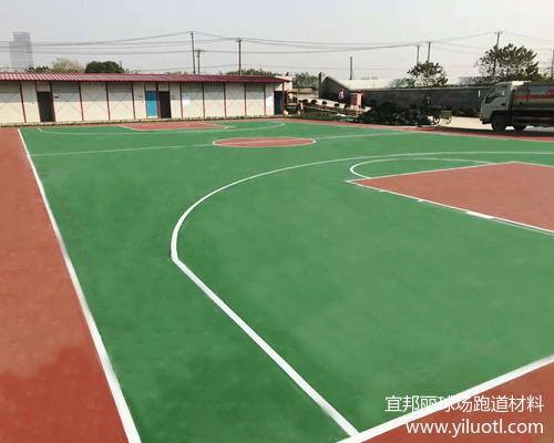 蘇州硬地丙烯酸藍球場施工案例