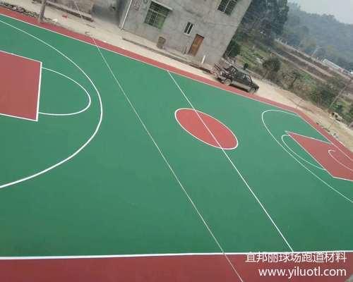 江西吉安丙烯酸藍球場施工案例