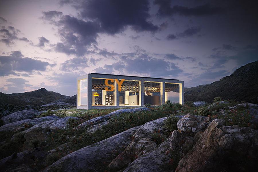 坐落在挪威山脉深处的可无限延伸的小屋
