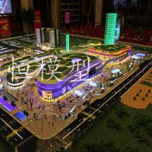 唐人街商业沙盘模型