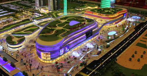 商業辦公|唐人街商業沙盤模型
