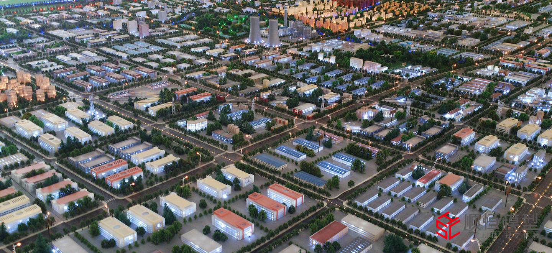 項城總體規劃沙盤模型