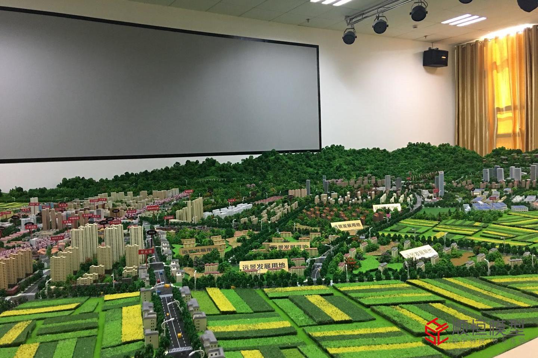 玉溪市總體規劃沙盤