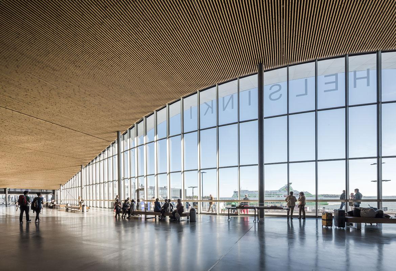 赫尔辛基西港港口2号客运码头获得2017芬兰照明奖的室内照明设计奖