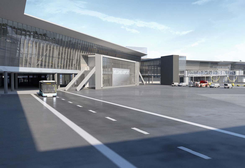 """""""进展中的项目""""赫尔辛基机场扩建"""