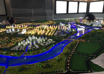 ?扬州城市规划沙盘