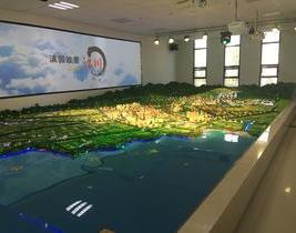 玉溪市总体规划沙盘