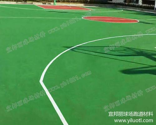 浙江溫州丙烯酸籃球場施工案例