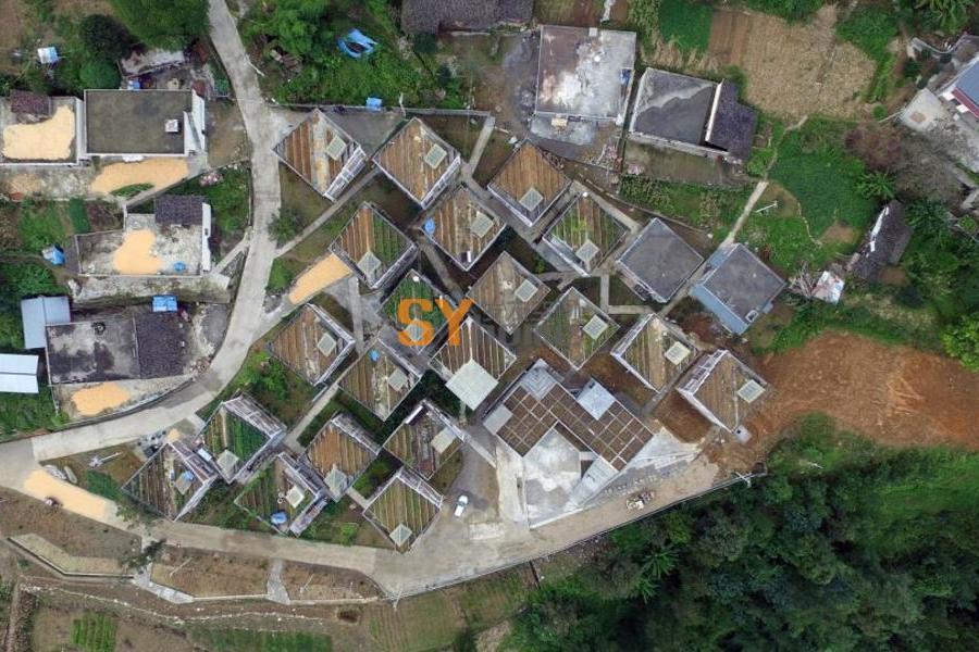 金台村重建项目,四川 / 城村架构