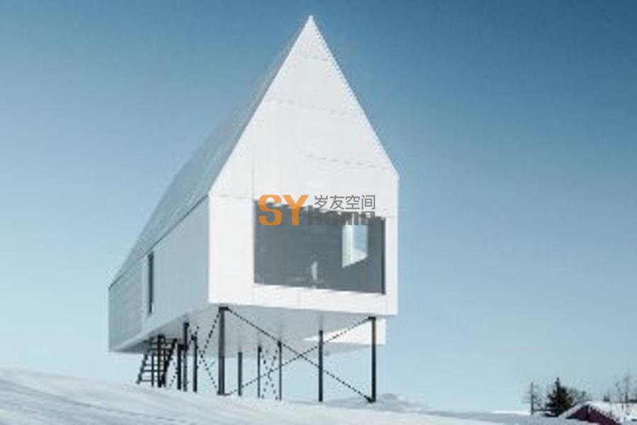 加拿大,魁北克,悬空的住宅