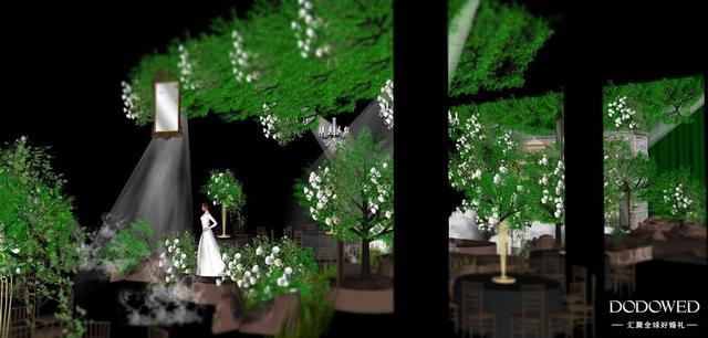 充满神秘气息的复古森系婚礼