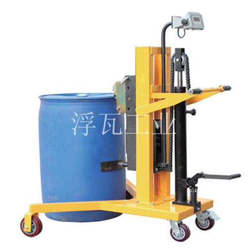 称重型液压油桶搬运车
