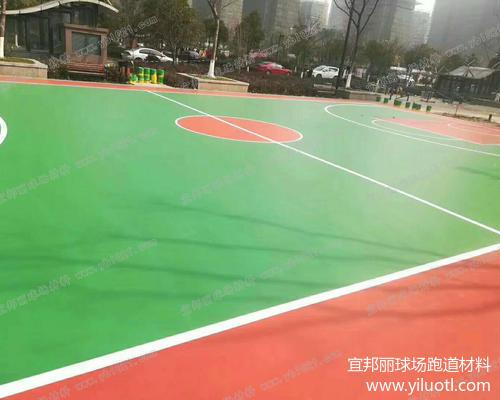 杭州硅PU藍球場施工案例