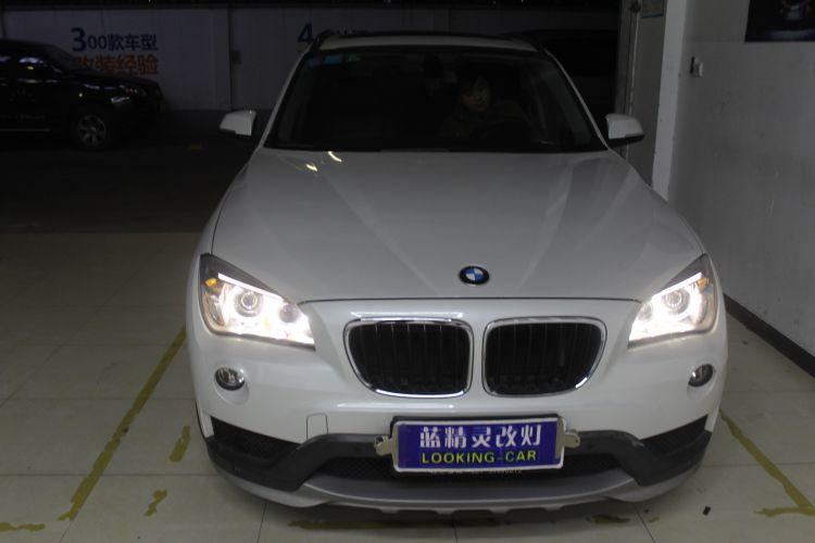 上海蓝精灵改车灯宝马X1升级大灯总成��8��