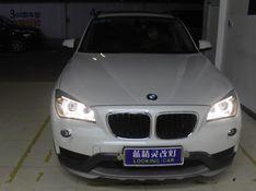 上海宝马X1改装大灯总成原厂低配升级高配氙气大灯