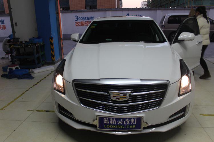 上海蓝精灵凯迪拉克ATS改车灯海拉6透镜欧司朗氙气大灯 ...��1��