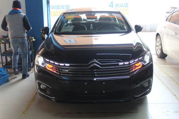 上海雪铁龙C6改车灯米石LED透镜加红色远光模组 ...��2��