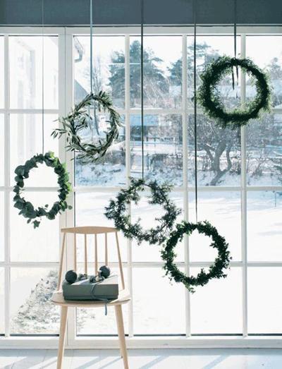 婚礼花环挂饰 8种花环让冬季婚礼更浪漫