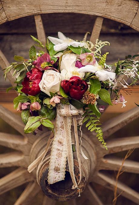 栗婚礼︱飘带的婚礼花束——让你的新娘手捧花随性而美
