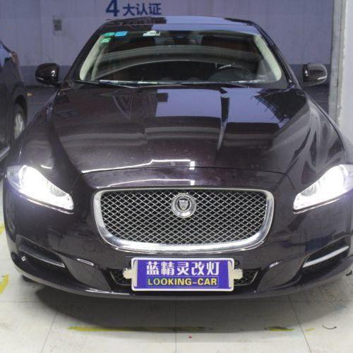 上海捷豹XJ车灯改装海拉5透镜飞利浦XV氙气大灯