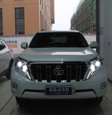 上海丰田霸道车灯改装海拉五透镜欧司朗氙气大灯