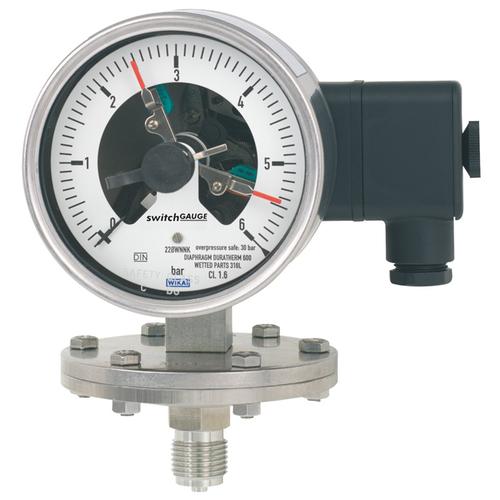 PGS43.100, PGS43.160 带开关电接点的膜片式压力表