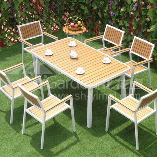 J06-103(1+6塑木桌椅)