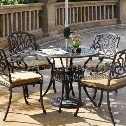 J03-011(1+4铸铝桌椅)