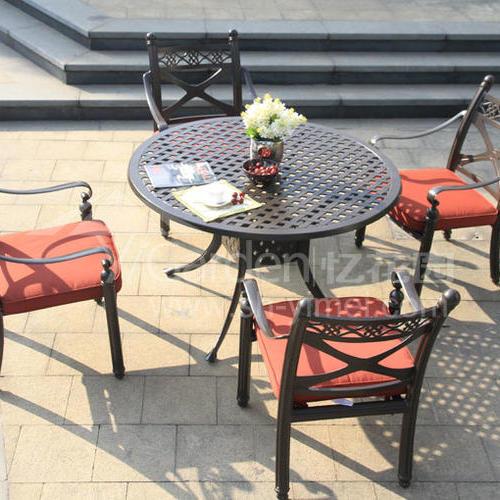 J03-021(1+4铸铝桌椅)