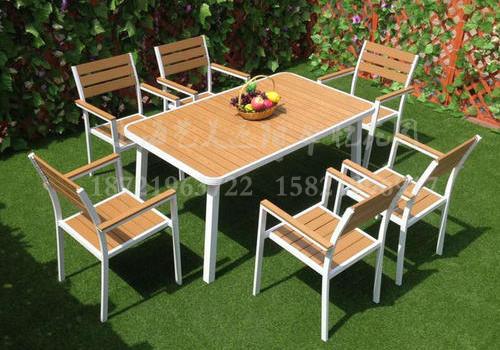 J06-100(1+6塑木桌椅)