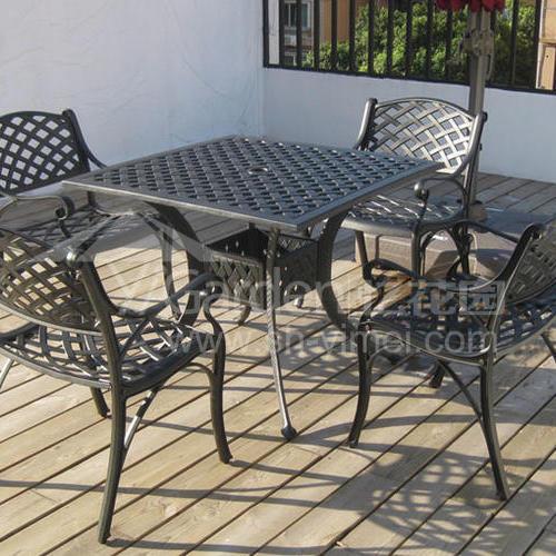J03-013(1+4铸铝桌椅)