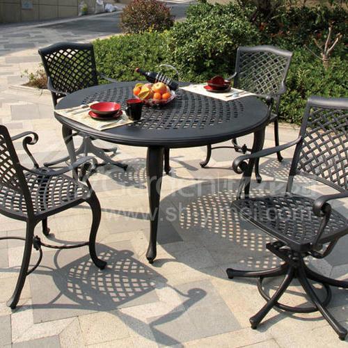 J03-010(1+4铸铝桌椅)